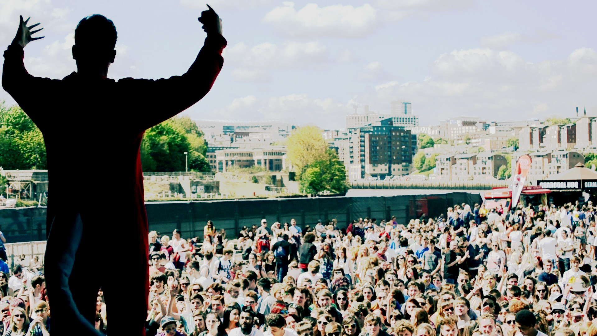 A still from Big Beat Bronson Live at Evolution Festival 2013 teaser trailer