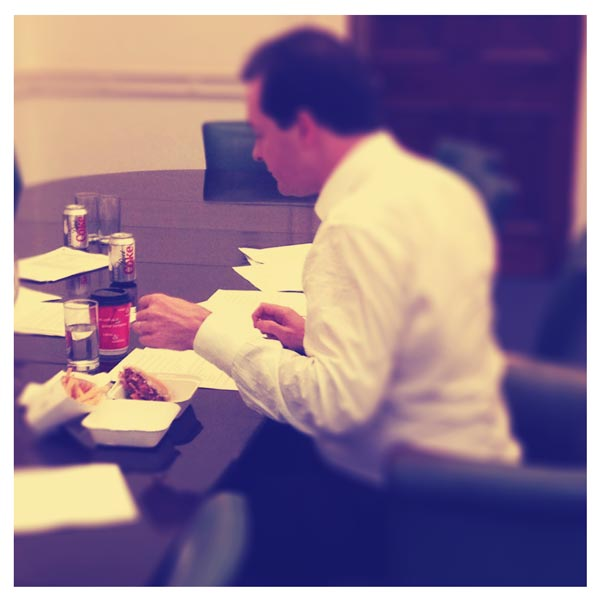 George Osborne eating a burger Instagram style by Matt Horne