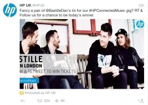 Hewlett-Packard social media fail on Twitter