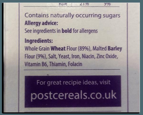 Post Cereals Grape Nuts Ingredients