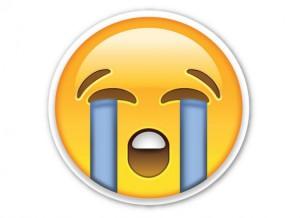 Sad emoji face