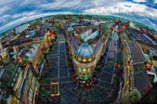 Newcastle city centre through Google's Deep Dream