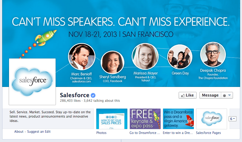 Saleforce 2013 Facebook cover image