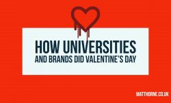How universities and brands did valentine's day on social media