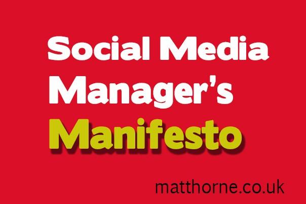 Social Media Manager's Manifesto