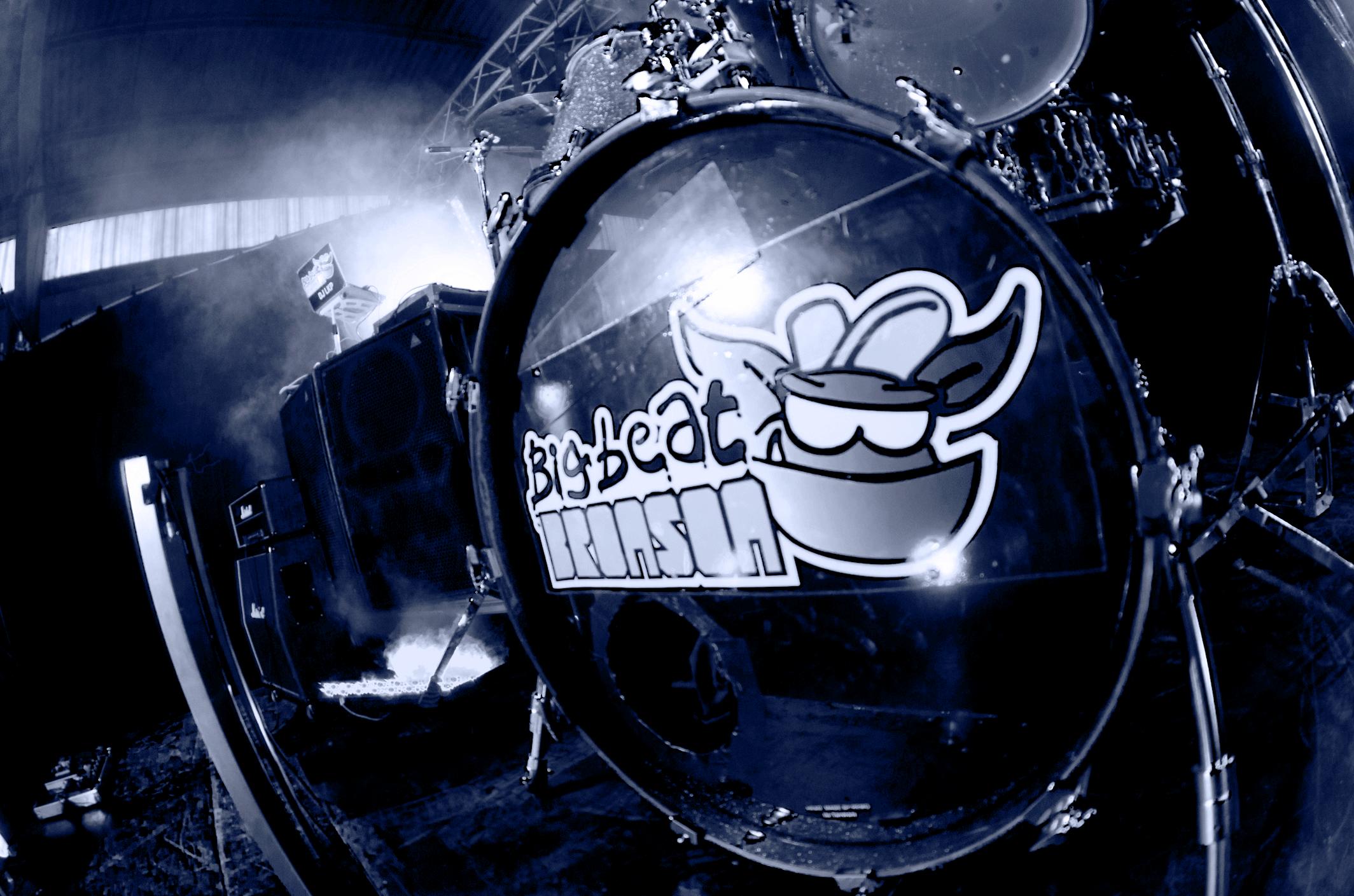Big Beat Bronson Break behind the scenes photo of a drum kit