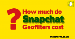 How much do snapchat geofilters cost?