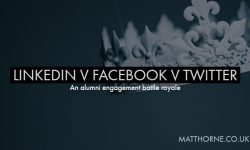 Linkedin v Facebook v twitter an alumni content battle royale
